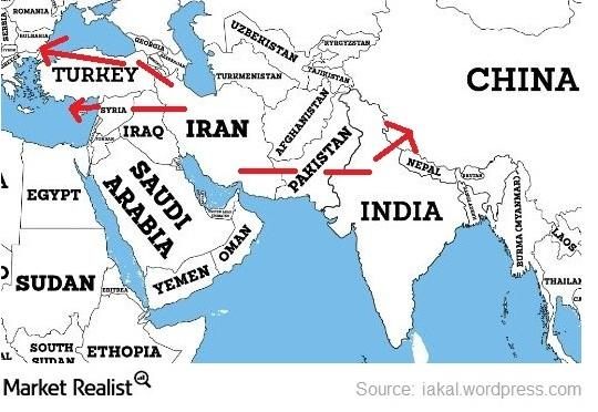 uploads///map of iran iraq pipeline and tapi pipeline