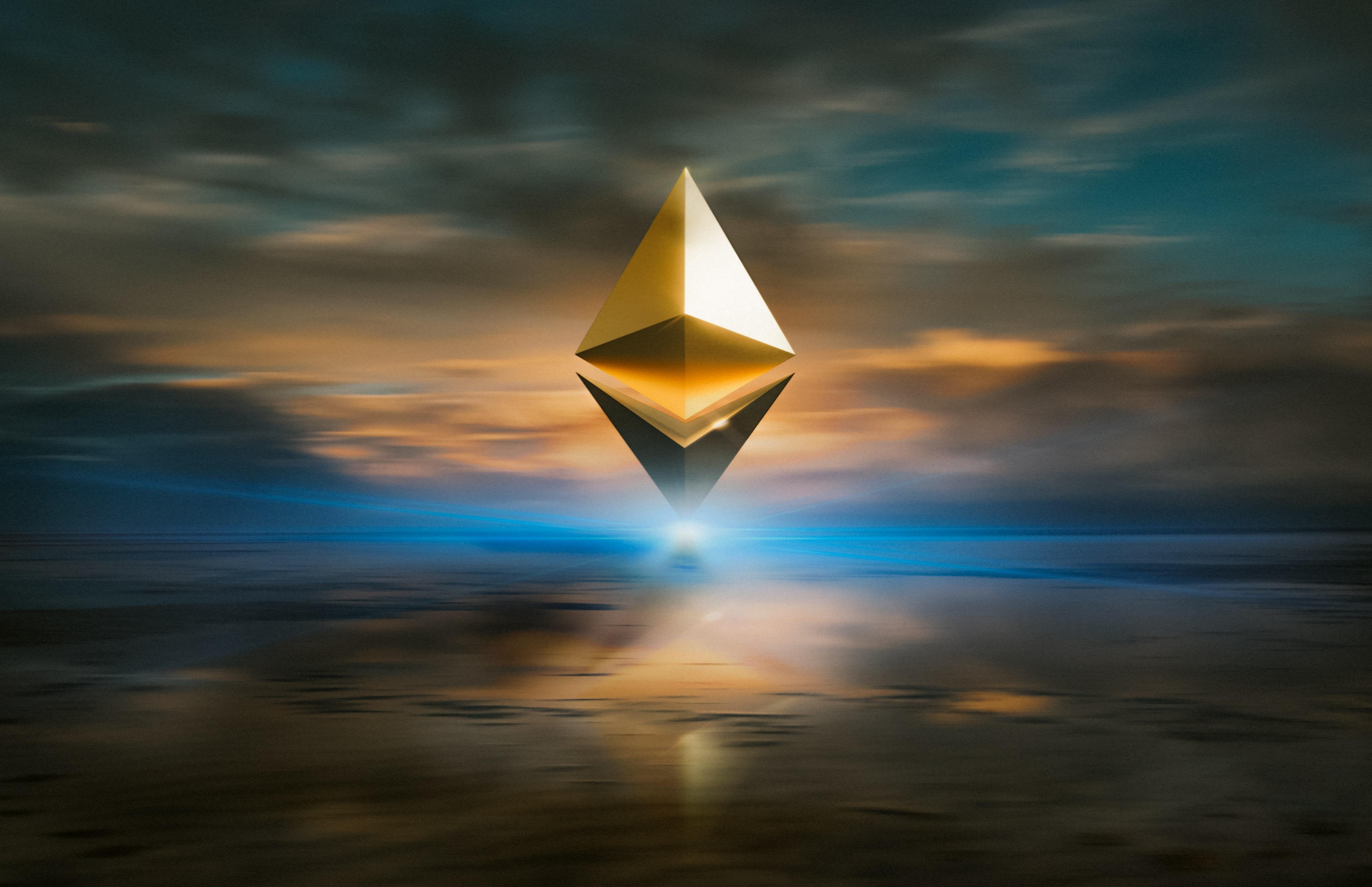 Ethereum Logo on Horizon