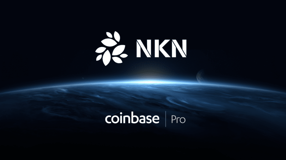 NKN logo and Coinbase