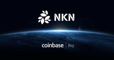 NKN logo and Coinbase