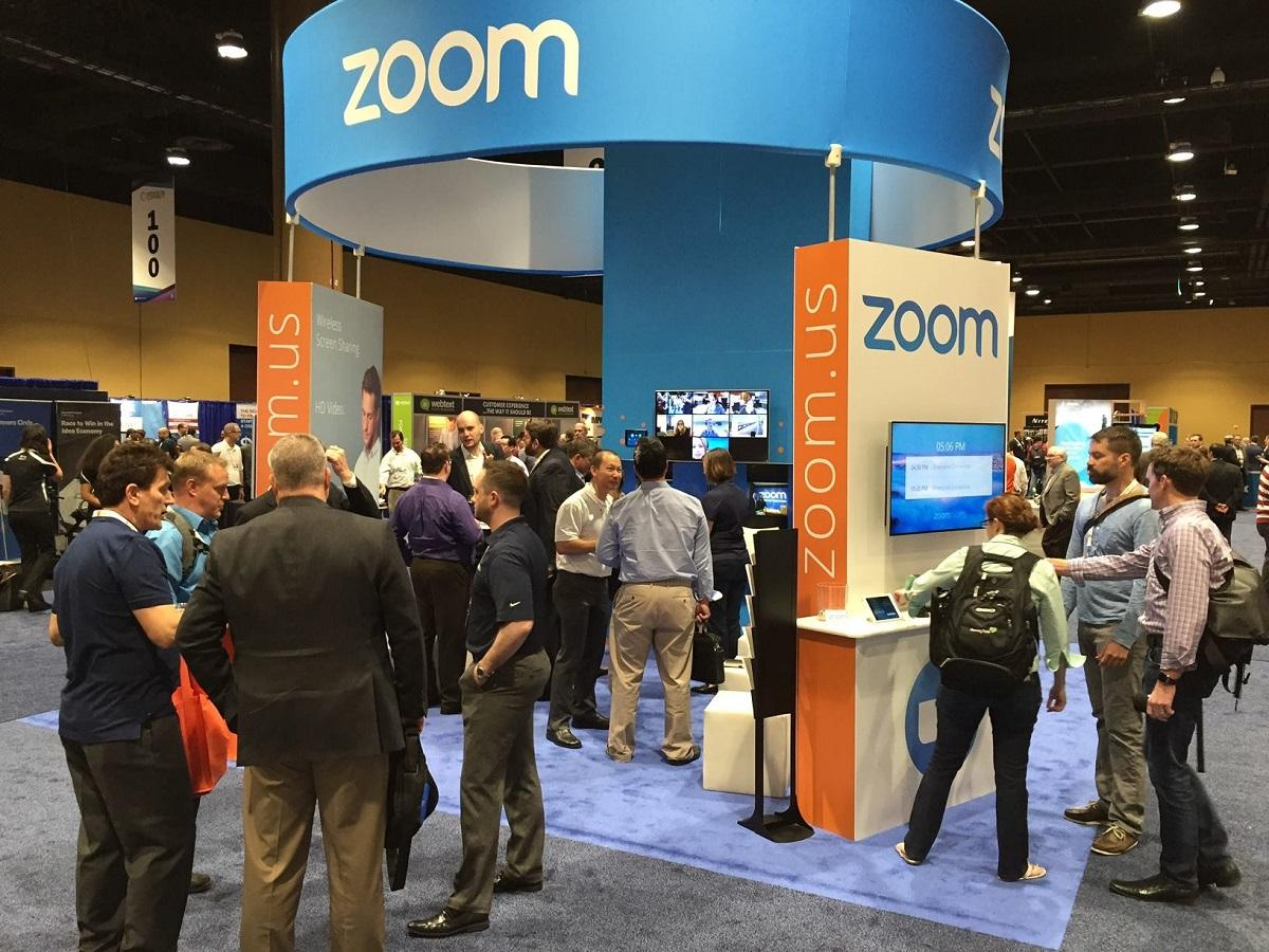 Zoom booth at Enterprise Connect