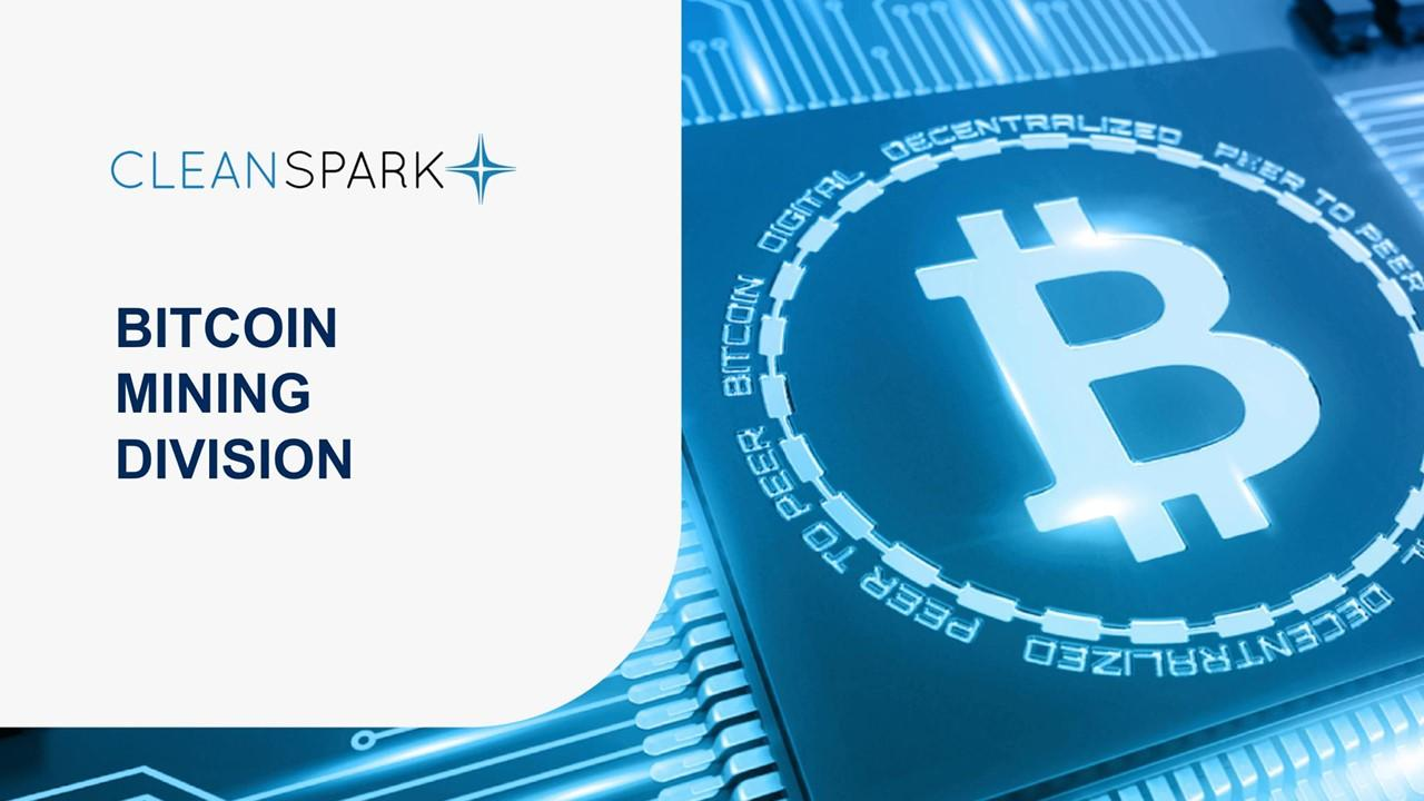 CleanSpark logo and bitcoin
