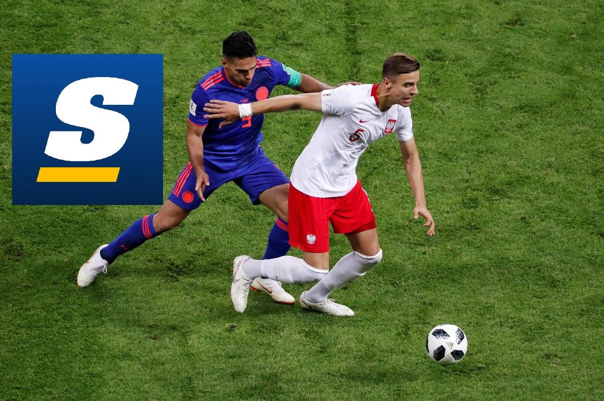 Men playing soccer and theScore logo