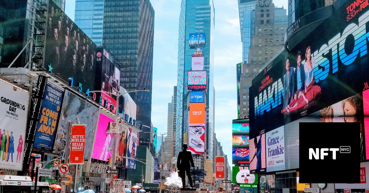 Times Square in NYC will host NFT.NYC
