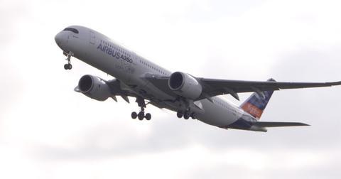 Airbus aircraft flying
