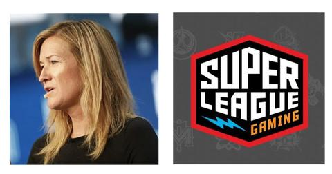Ann Hand and Super League Gaming logo