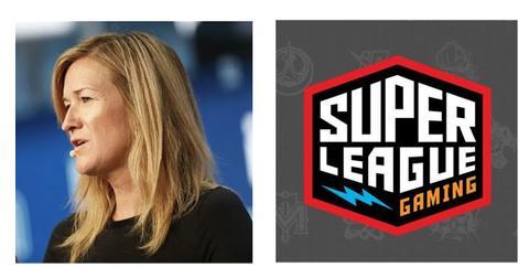 Ann Hand and Super League Gaming logo