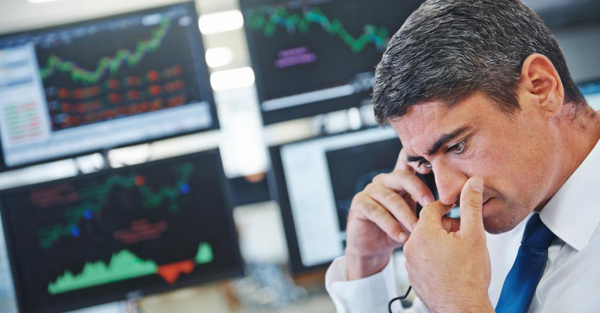 Trader speaking on phone