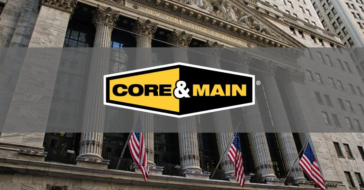 Core & Main logo in front of the NYSE
