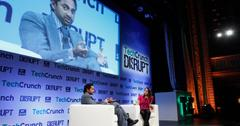 Chamath Palihapitiya of Social+Capital Partnership speaks onstage with Leena Rao of TechCrunch
