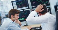 Worried stock trader