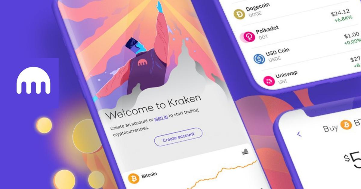 Kraken app on a smartphone