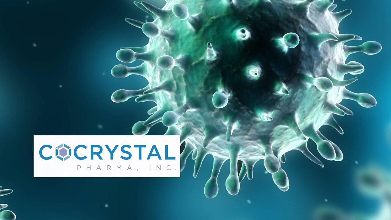 COVID-19 virus and Cocrystal Pharma logo