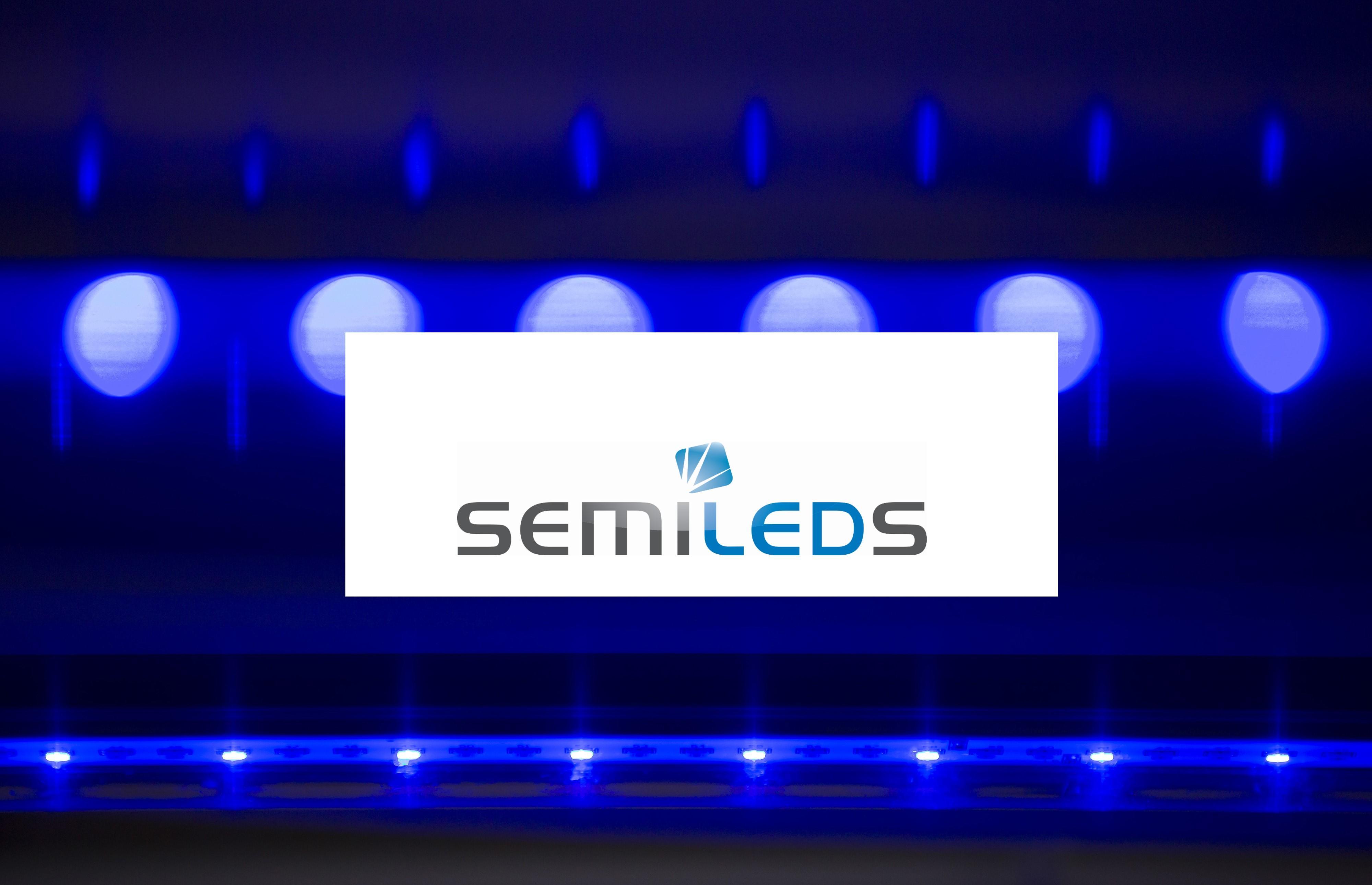 SemiLEDS logo over LED lighting