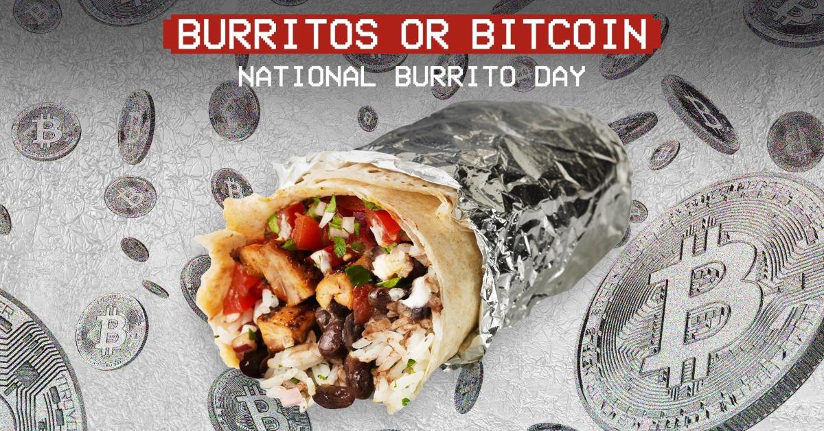 Chipotle Burritos or Bitcoin ad