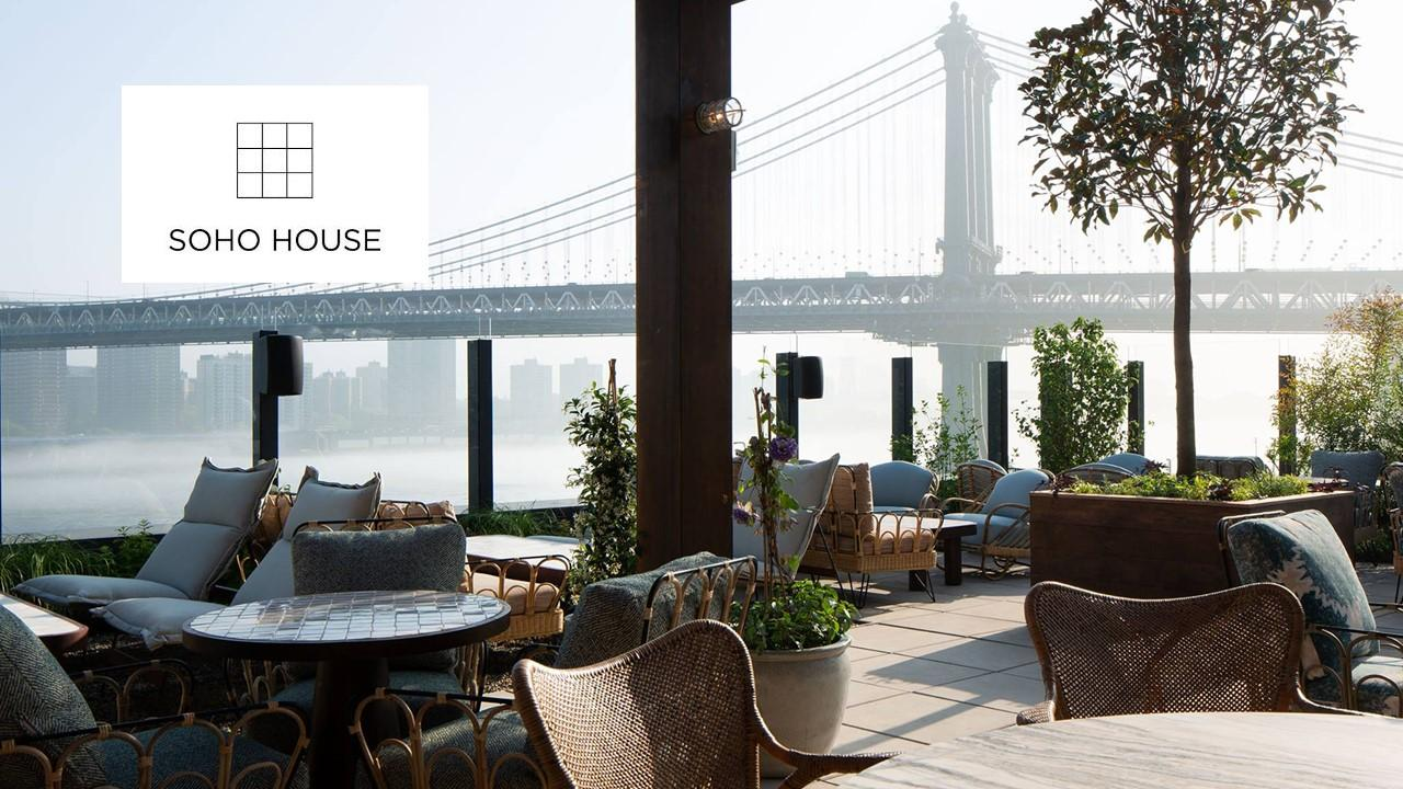Soho House logo and outdoor area