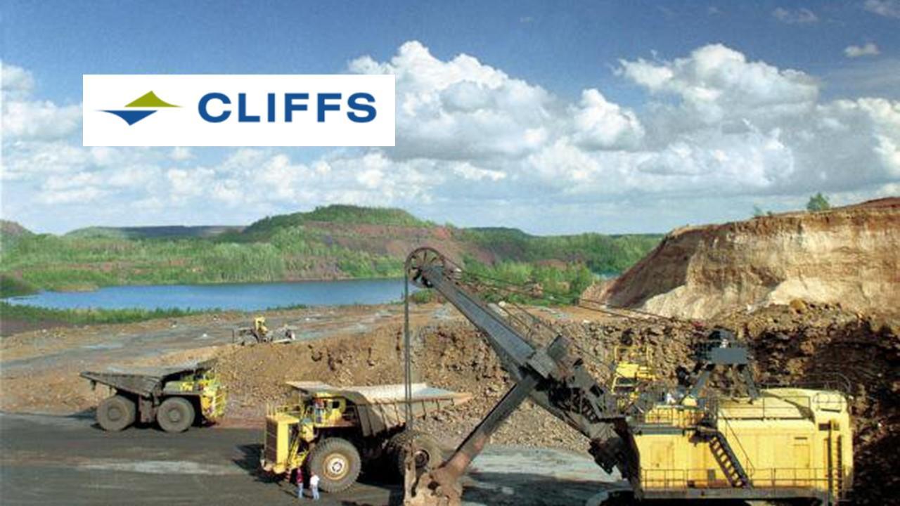 Cleveland-Cliffs work site and logo