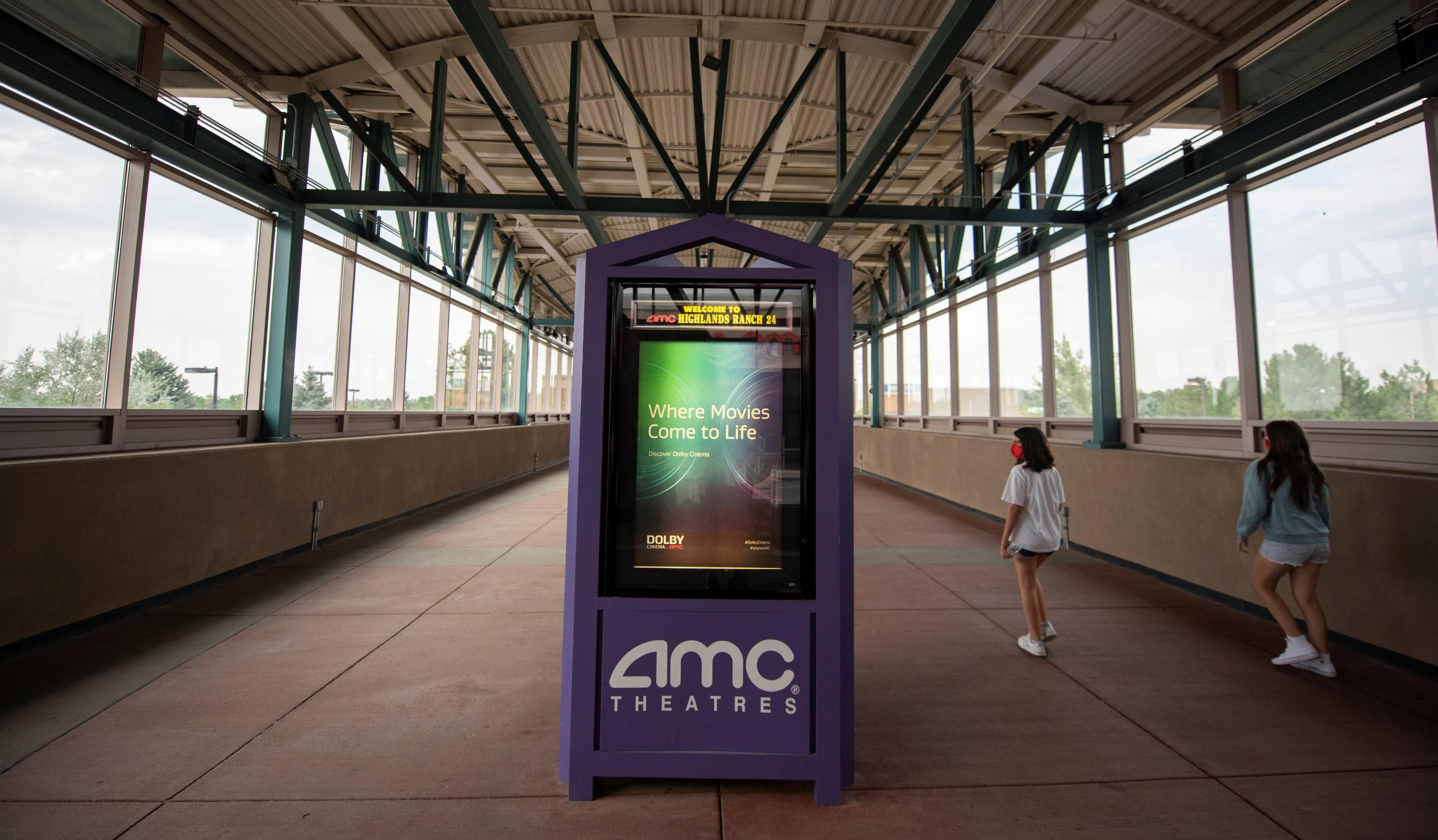 AMC advertisement in walkway