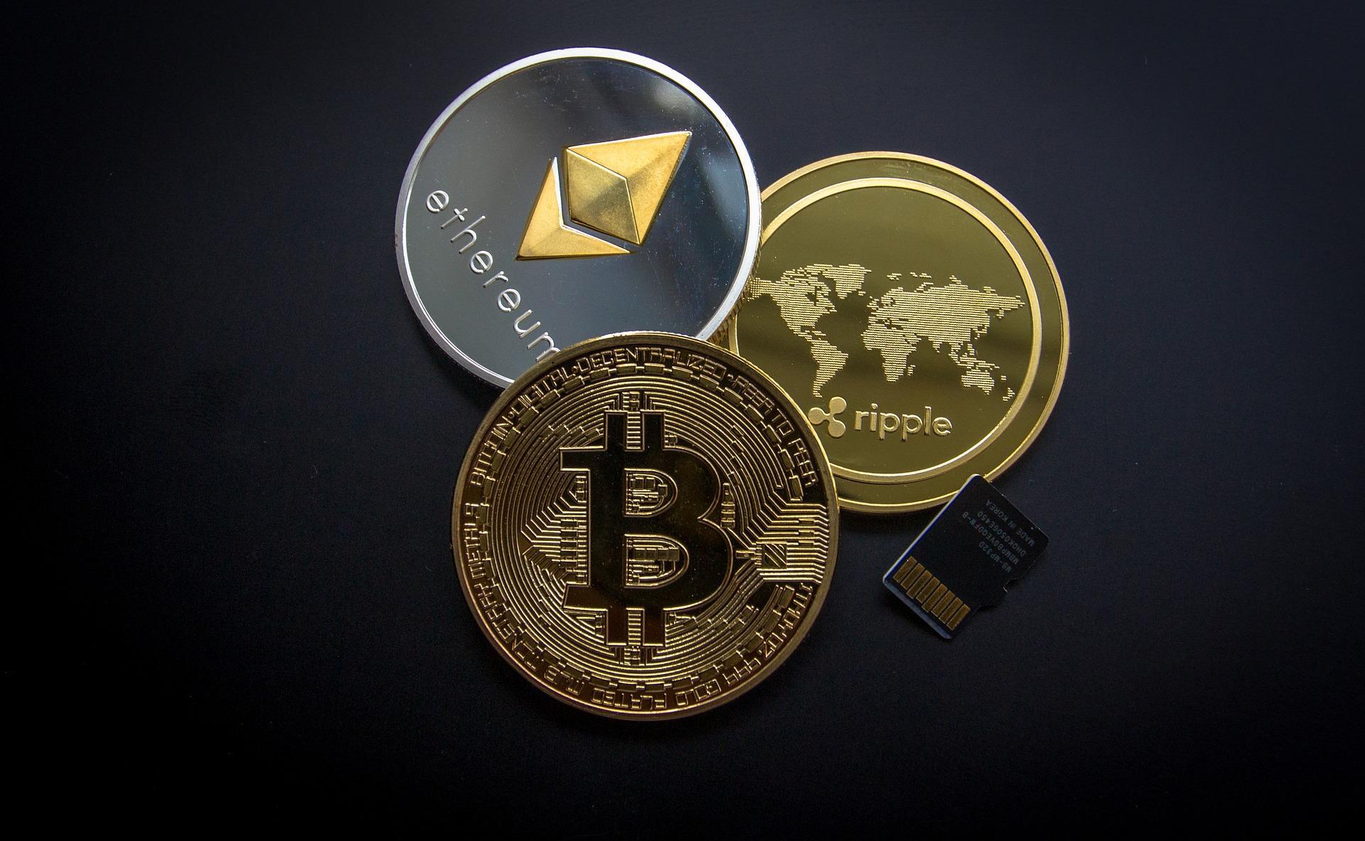 différentes crypto-monnaies