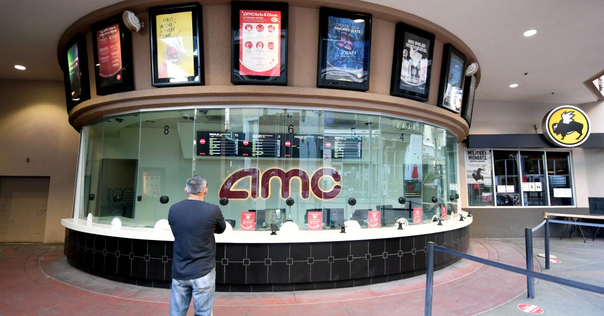 Person near AMC ticket booth