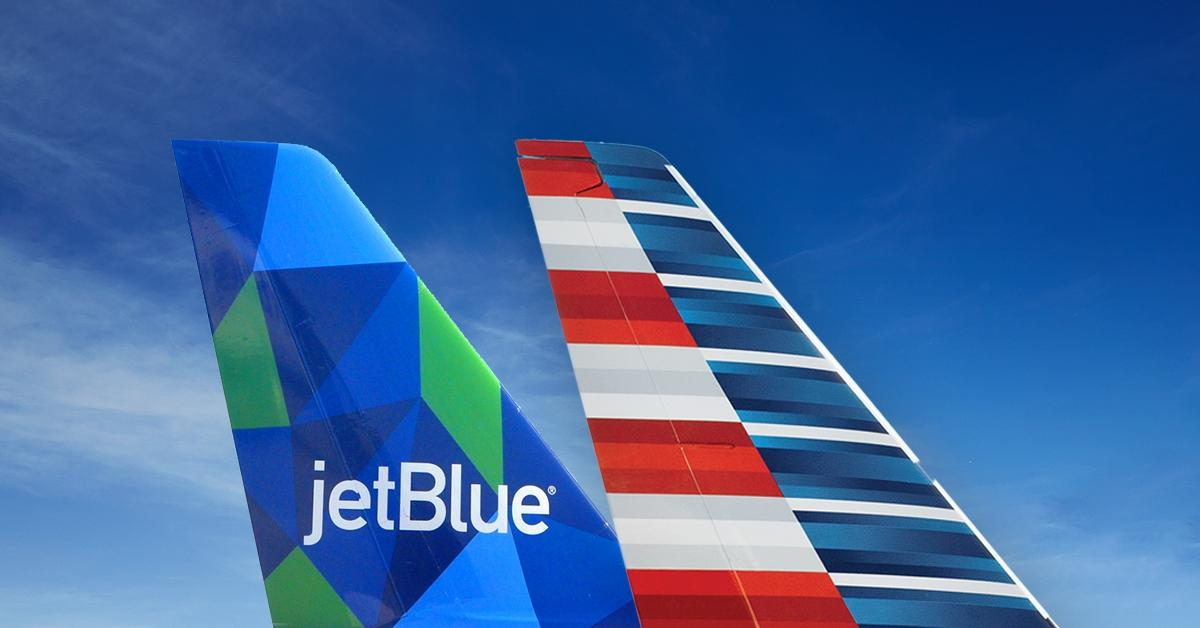 JetBlue and American Airlines aircraft
