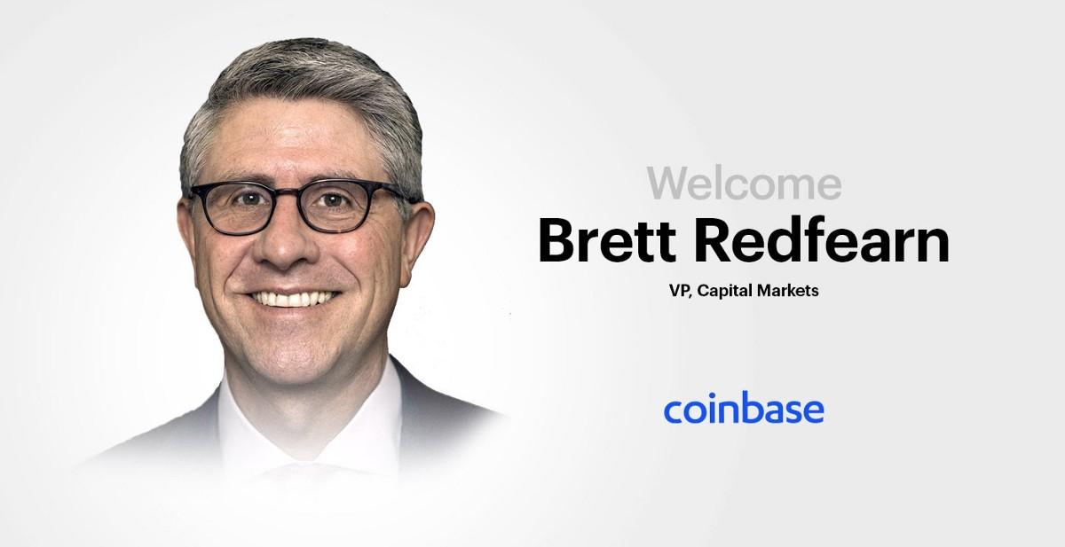 Coinbase Announcement Brett Redfearn