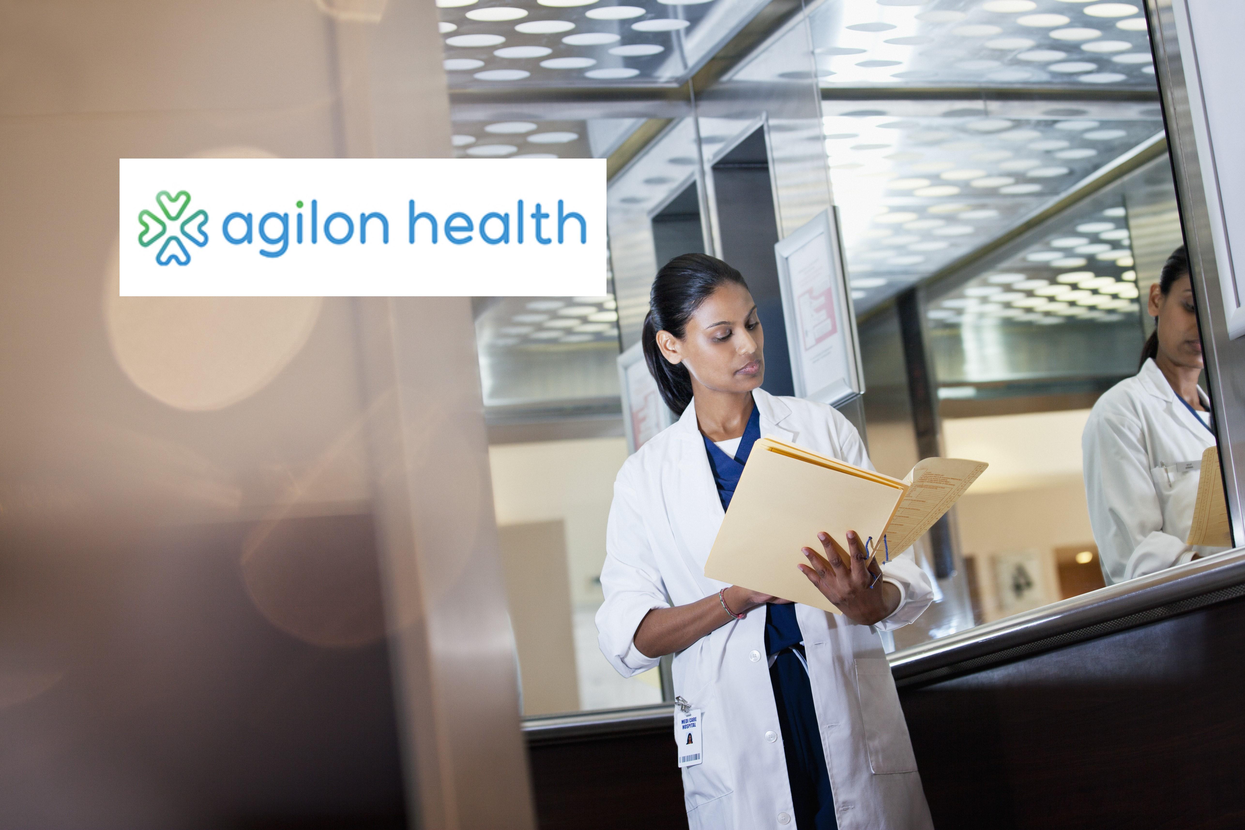 Agilon Health logo over physician