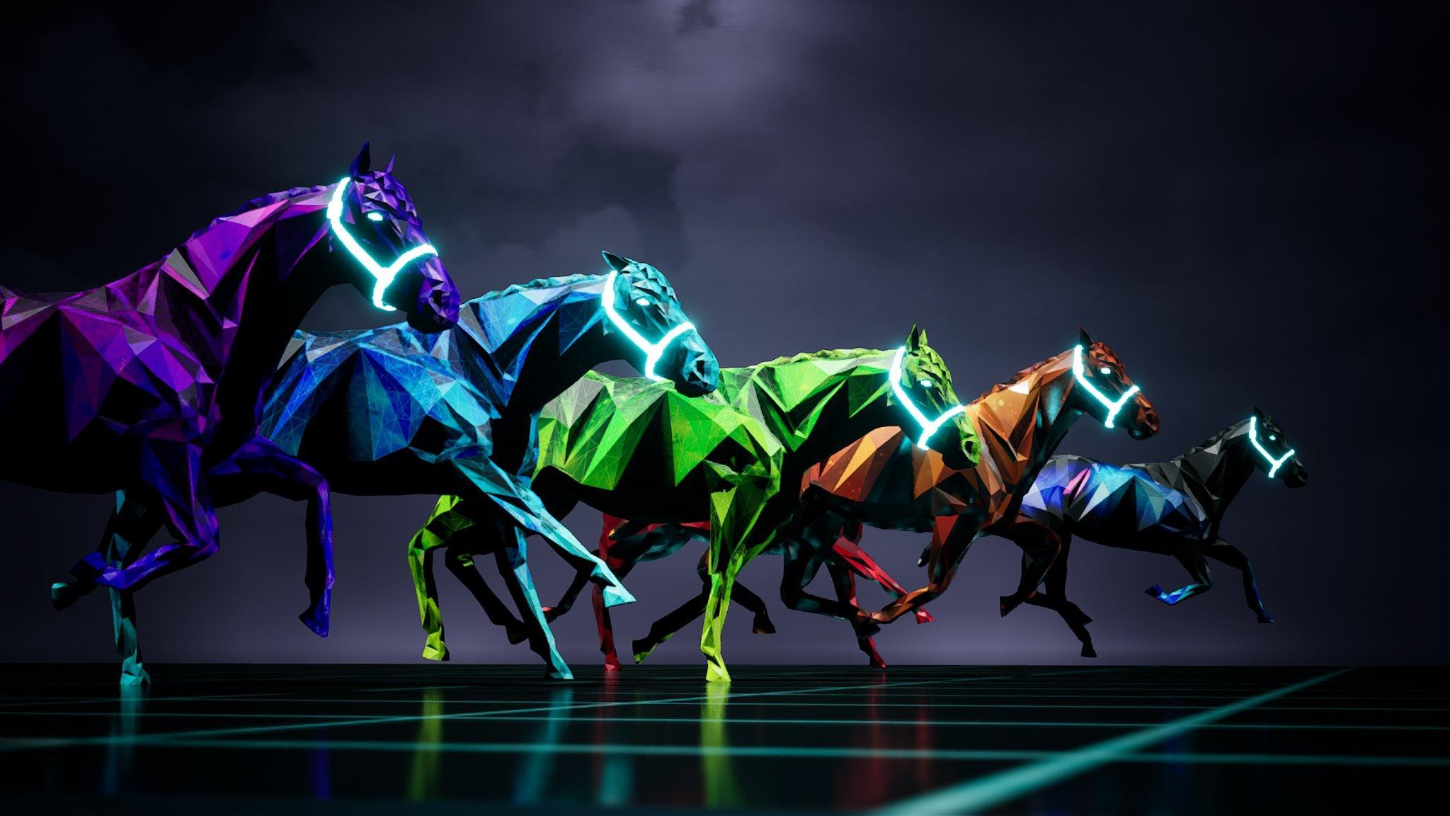 Zed Run digital horse racing game image