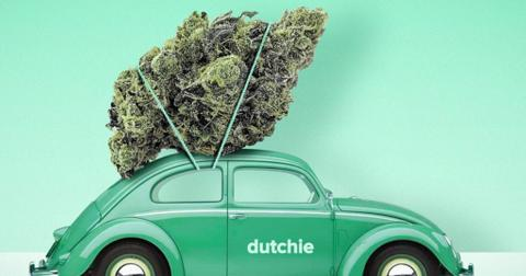 Dutchie car and marijuana
