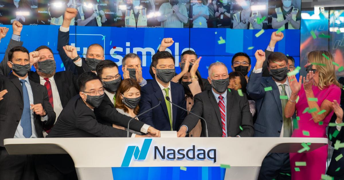 TuSimple listing on NASDAQ