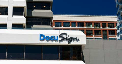What Is DocuSign Stock Price After Market Sell-Off