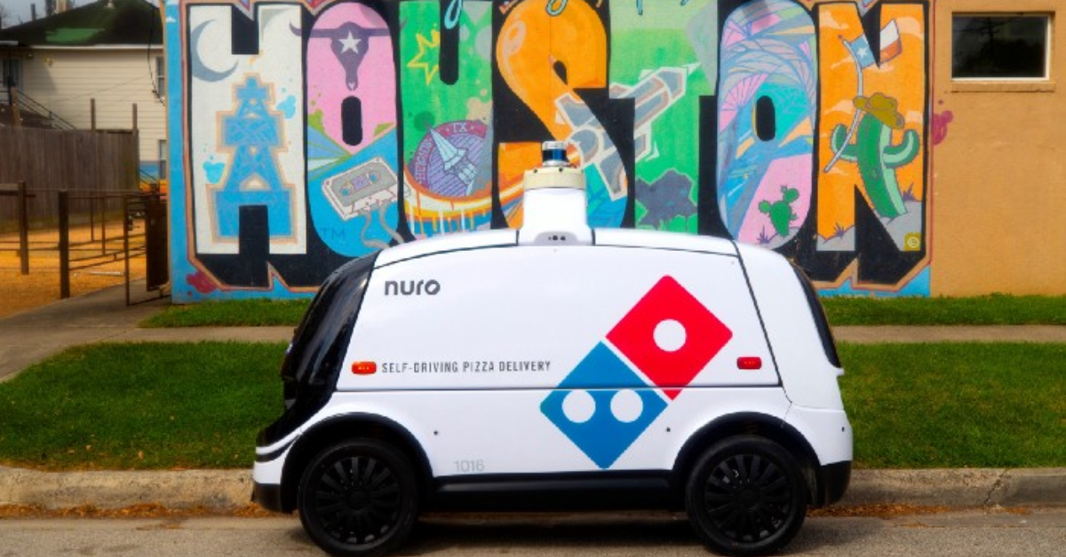 Nuro and Domino's delivery vehicle