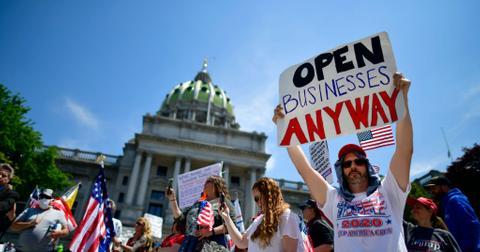 Protestors against lockdowns