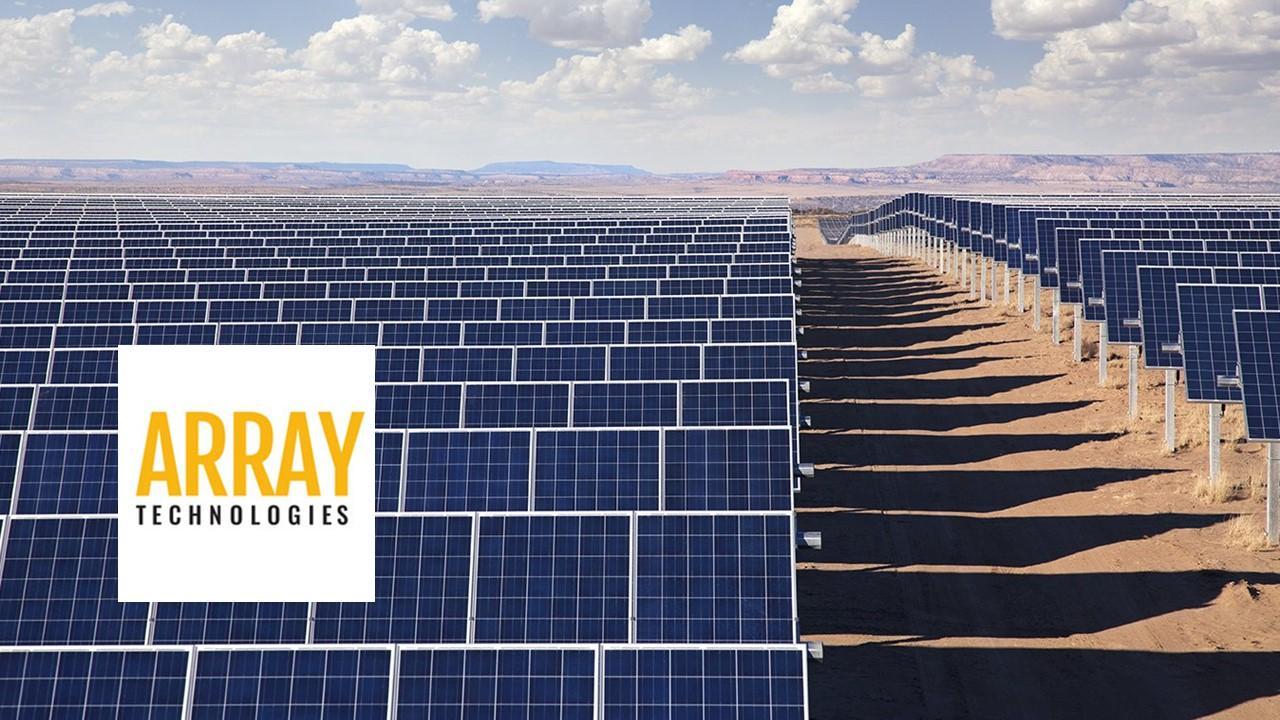 Array Technologies solar panels and logo