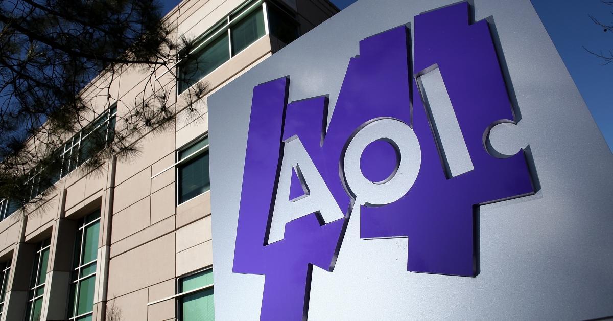Aol logo on office building,