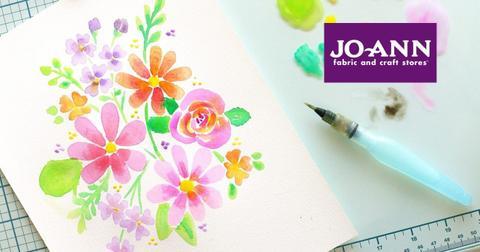Art project and Joann Fabrics logo