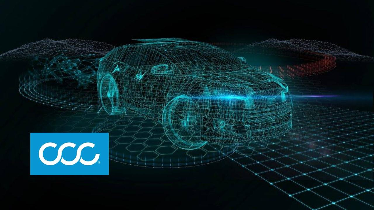 CCC logo and car digital footprint