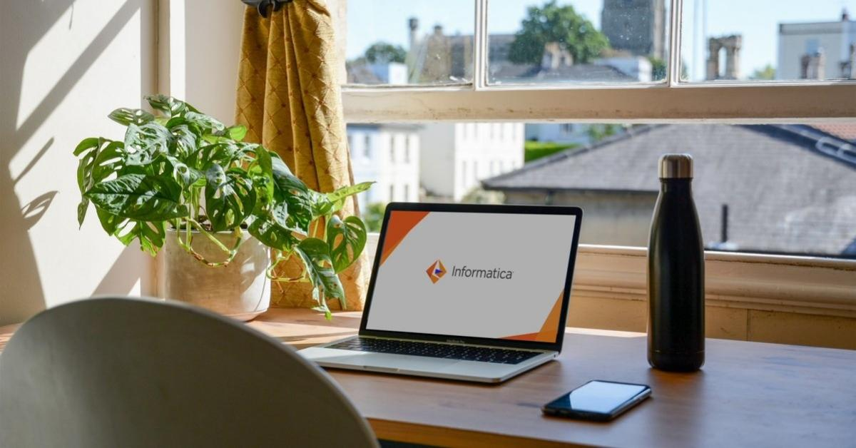 Informatica logo displayed on a laptop