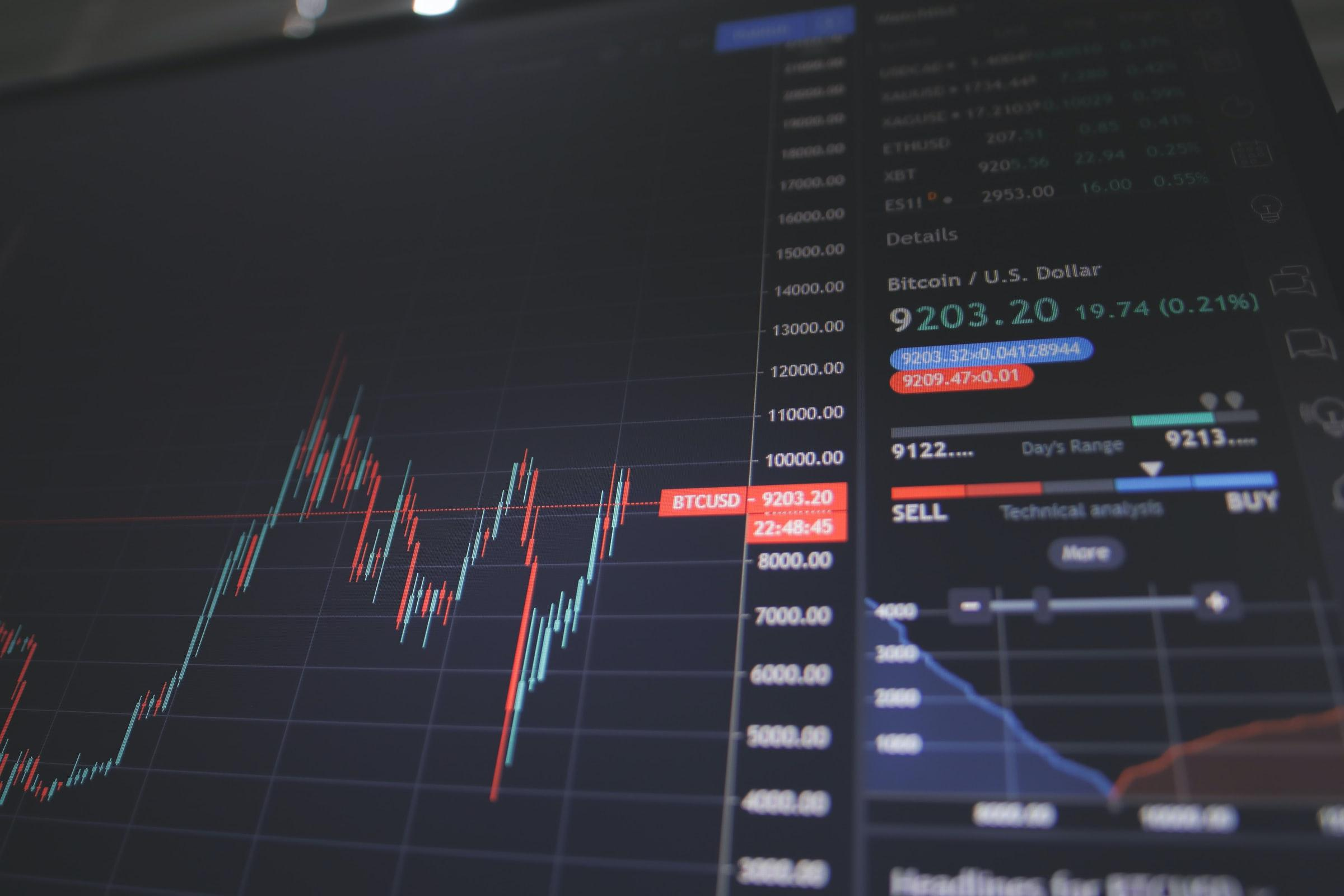 A price chart showing a crypto flash crash