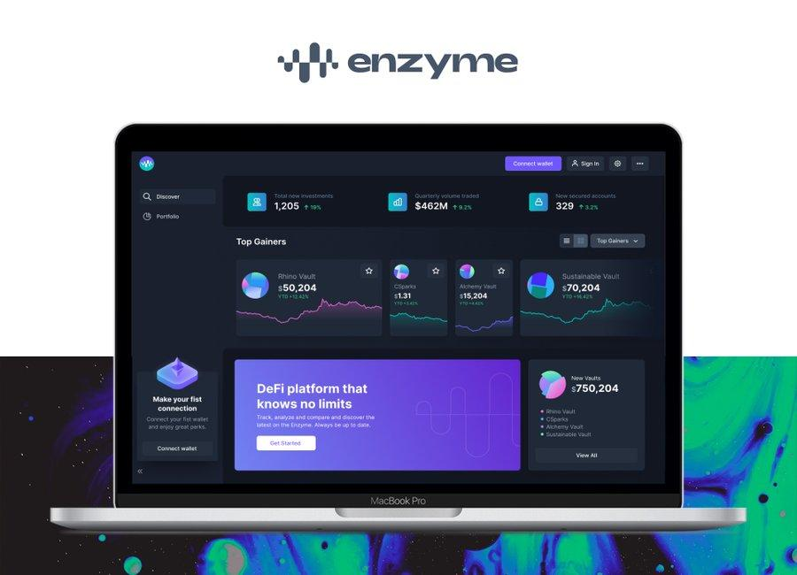 Enzyme on a tablet