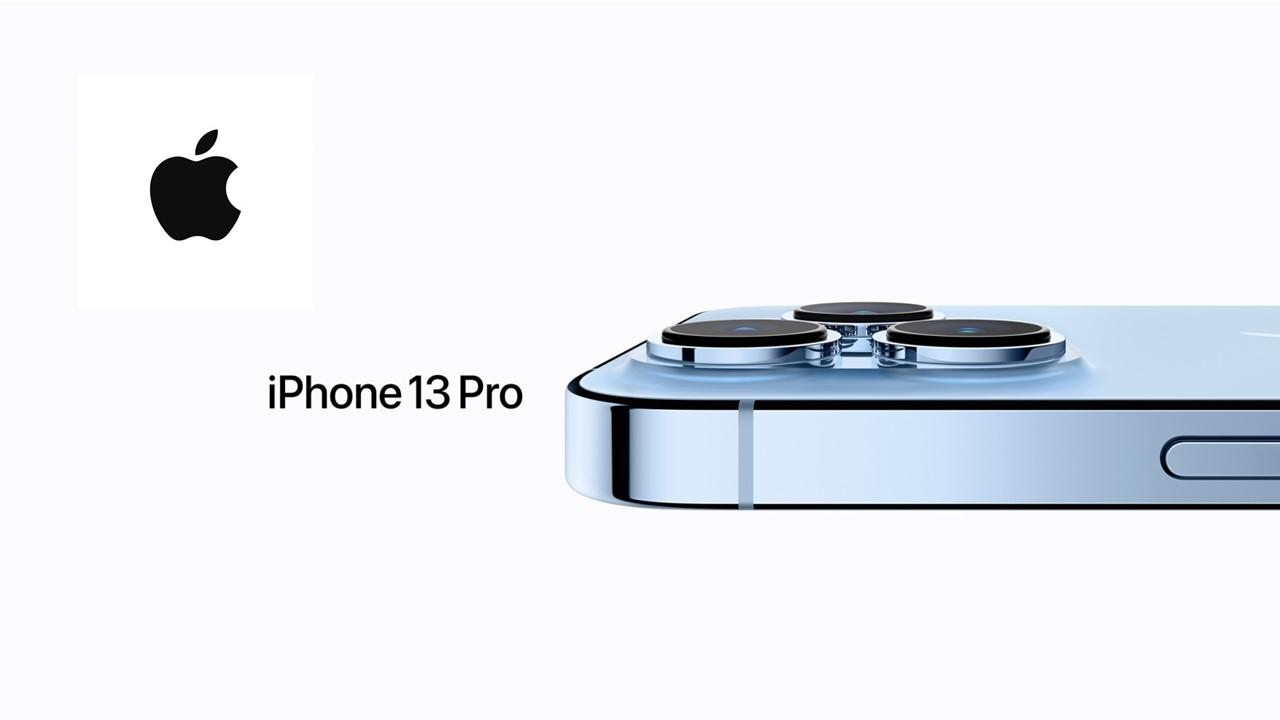 Apple iPhone 13 Pro and Apple logo
