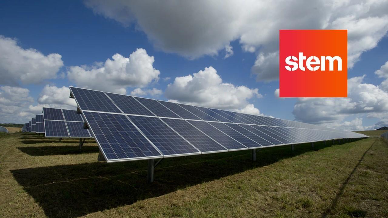 Solar panels and Stem logo