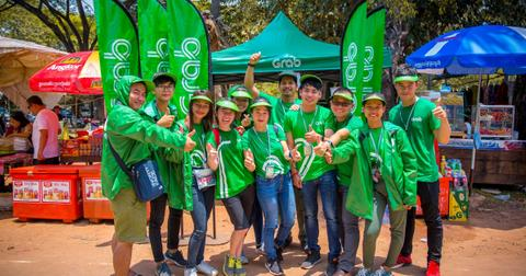 Group of Grab employees