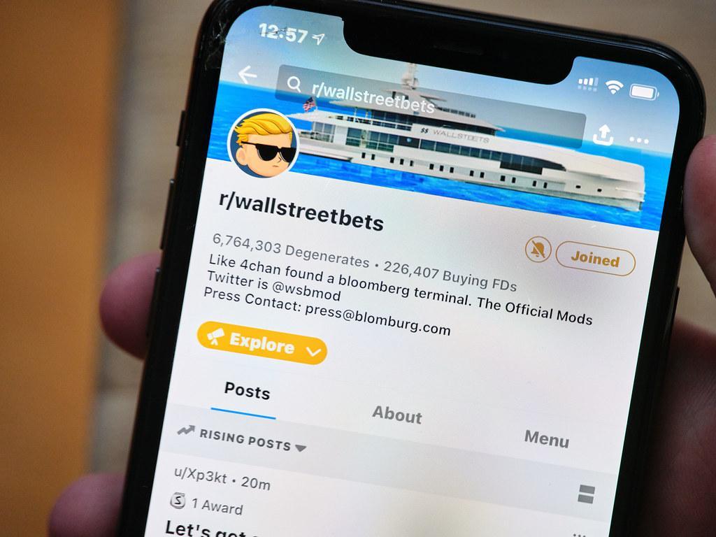 WallStreetBets subreddit mobile screenshot
