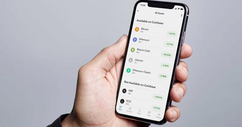 Altcoins on the Coinbase app