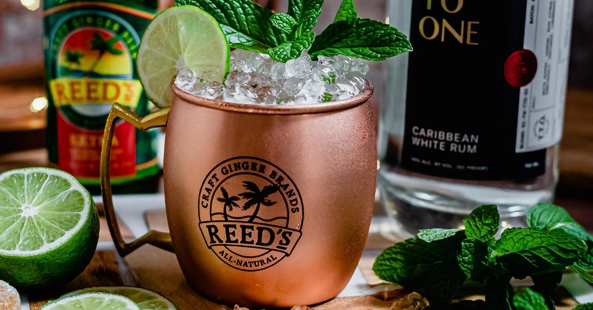 A Moscow Mule drink made with Reed's