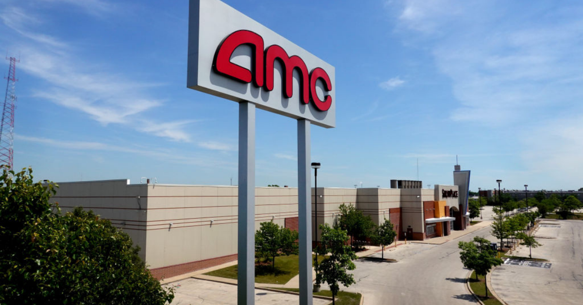 AMC sign in a parking lot