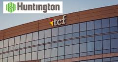 Huntington logo over TCF corporate office