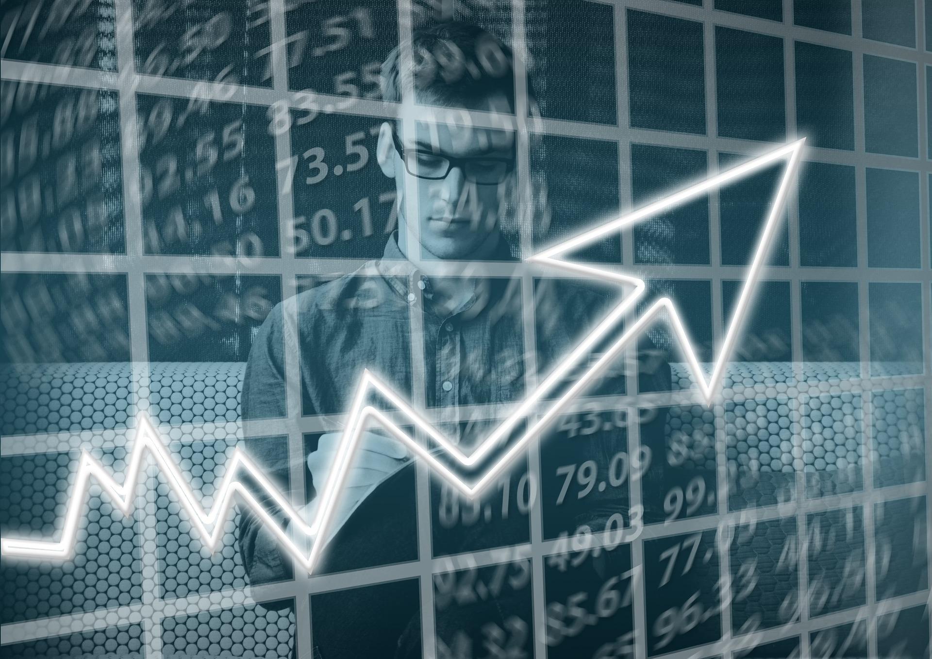 graphique de flèche de commerçant