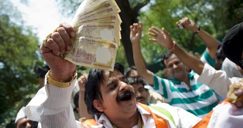 Indian rupee value plummets